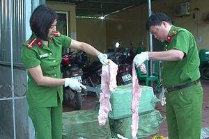 Lạng Sơn: Thu giữ hơn 200kg nầm lợn hư hỏng