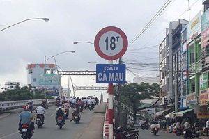 Cầu Cà Mau tạm ngưng lưu thông xe ô tô qua cầu 84 ngày để sửa chữa