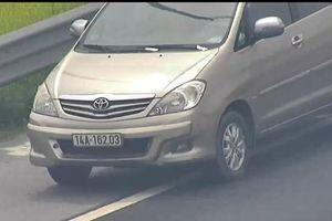 Phạt 1 triệu đồng đối với nữ tài xế xe Innova lùi xe trên đường cao tốc