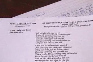 Thí sinh Phú Thọ tung đề Văn THPT 2019 lên MXH khi đang làm bài