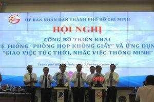 TPHCM triển khai hệ thống 'phòng họp không giấy'