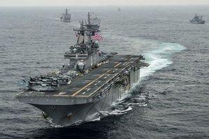 Tàu đổ bộ USS Boxer, lính thủy đánh bộ Mỹ được triển khai đến vùng Vịnh