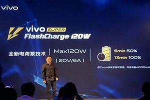 Vivo khoe công nghệ sạc đầy pin smartphone chỉ trong 13 phút