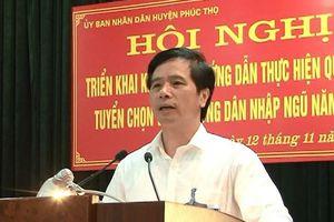 Hà Nội: Bí thư Huyện ủy Phúc Thọ bị cách tất cả chức vụ trong đảng