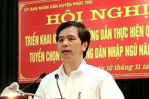 Hà Nội cách chức bí thư, kỷ luật chủ tịch, phó chủ tịch huyện Phúc Thọ