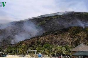 Cháy lớn tại khu du lịch biển Kỳ Co, thành phố Quy Nhơn