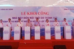 Quảng Trị: Khởi công Nhà máy điện mặt trời Gio Thành 1 và Gio Thành 2