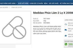 Thổi phồng công dụng như thần dược, mỹ phẩm Medidao Phúc Lâm bị thu hồi