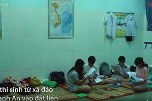 Thí sinh xã đảo ở TP HCM mượn lớp học làm phòng trọ để dự thi THPT