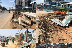 Thi công đường Nguyễn Khoái 'gài bẫy' người đi đường?