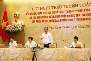 Phó Thủ tướng Trương Hòa Bình: Tham nhũng vặt, nạn lót tay, chạy chọt vẫn nhức nhối