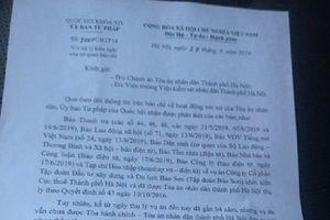 Yêu cầu Tòa án Hà Nội báo cáo vụ Tập đoàn Bảo Sơn