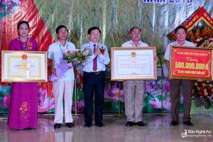 Xã Hưng Châu (Hưng Nguyên) đón Bằng công nhận đạt chuẩn nông thôn mới