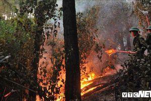 400 quân nhân căng mình cứu gần 100 hecta rừng bị lửa 'nuốt chửng' ở Huế