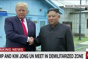 Ông Kim Jong-un nói gì khi mời ông Trump bước qua đường ranh giới?