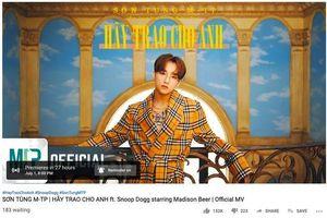 Ngoài lượt xem, Sơn Tùng M-TP còn có thể đạt được kỉ lục này trên YouTube với MV 'Hãy trao cho anh'