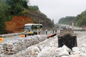 Sửa chữa xong cầu Ngòi Thủ trên cao tốc Nội Bài-Lào Cai