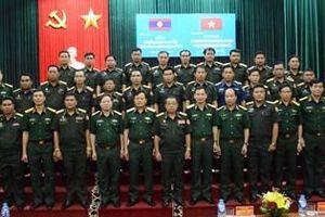 Tập huấn công tác tham mưu hậu cần, doanh trại cho cán bộ Quân đội nhân dân Lào