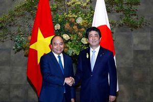 Thủ tướng chứng kiến Lễ trao đổi các văn kiện hợp tác Việt-Nhật