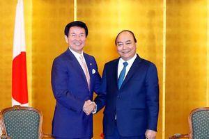 Hình ảnh Thủ tướng tiếp các quan chức, lãnh đạo doanh nghiệp Nhật Bản
