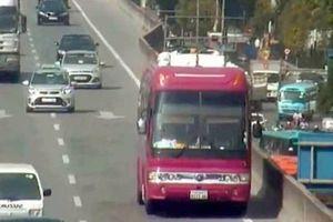 Tài xế xe biển Lào đi lùi 2km ở đường trên cao bị phạt 1 triệu