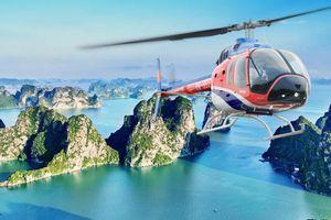 Thưởng ngoạn vẻ đẹp kỳ quan Vịnh Hạ Long bằng trực thăng