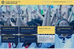 Tuyển sinh trực tuyến lớp 1, hơn 72.000 trẻ Thủ đô đăng ký thành công