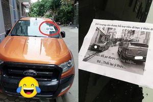 Bị ô tô chắn trước cửa, chủ nhà gây bất ngờ với lời nhắn: 'Cần hỗ trợ tiền' cho tài xế
