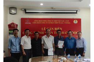 Công đoàn ''VNSTEEL' Gắn biển công trình chào mừng 90 năm ngày thành lập Công đoàn Việt Nam