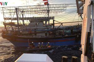 Thợ lặn chạy đua với áp thấp, tìm kiếm 9 thuyền viên mất tích