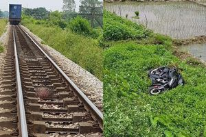 Clip: Hai thanh niên chết thảm khi cố vượt qua đường sắt