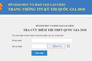 Tra cứu điểm thi THPT quốc gia 2019 ở Lai Châu