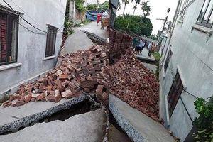 Lại xảy ra sự cố sụt lún ở xã An Tiến, huyện Mỹ Đức