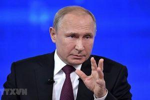 Tổng thống Putin ký phê chuẩn dự luật đình chỉ hiệp ước INF