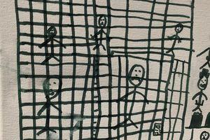 Bức vẽ của em bé di dân 'sau song sắt' ở Mỹ gây sốc