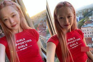 Mỹ nhân Hàn tái xuất showbiz vẫn không bỏ thói quen 'thả rông'