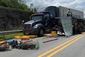 Tai nạn liên hoàn trên cao tốc Nội Bài - Lào Cai, 3 người nhập viện