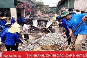 TP. Hà Tĩnh tiếp nhận gần 2.000 tấn xi măng xây dựng kết cấu hạ tầng đô thị