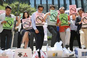 Xuất hiện kêu gọi tẩy chay hàng hóa Nhật Bản tại Hàn Quốc