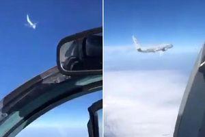 Cận cảnh chiến đấu cơ Nga chặn máy bay trinh sát Mỹ gần Crimea