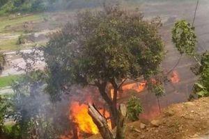 Hỏa hoạn thiêu rụi ngôi nhà sàn ở Sơn La