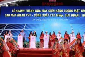 Khánh thành và đưa vào hoạt động nhà máy điện mặt trời Sao Mai Solar PV1