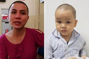 Tâm sự của người mẹ cạo đầu để chiến đấu cùng con trai 5 tuổi bị ung thư máu: 'Khải của mẹ giỏi lắm, nay đã ngồi dậy được rồi'