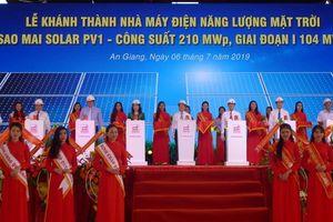 Khánh thành giai đoạn I Nhà máy điện năng lượng mặt trời ở An Giang