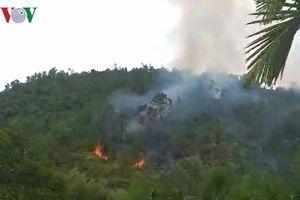 200 cán bộ, chiến sĩ Đà Nẵng chữa cháy rừng trồng Hòa Khánh Bắc