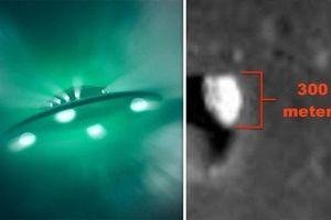 NASA làm lộ hình ảnh UFO khổng lồ dài 300 mét trong miệng núi lửa trên Mặt trăng?