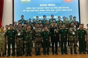 Việt Nam - Ấn Độ diễn tập chung trên sa bàn về gìn giữ hòa bình Liên hợp quốc