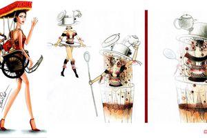 Cà phê sữa đá, xích lô, chuyện cổ sẽ vào trang phục Hoàng Thùy
