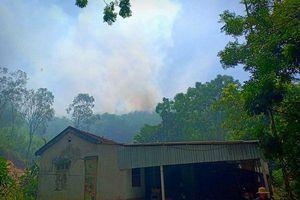 Hà Tĩnh: Hàng trăm người được huy động để dập lửa tại núi Nầm