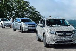 Honda CR-V bản facelift đang chạy thử nghiệm tại Mỹ